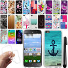 For Huawei Raven LTE H892L CLEAR TPU SILICONE Rubber Soft Case Phone Cover + Pen