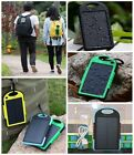 5000mAh Waterproof Solar Power Bank 2USB Portable LED Battery Charger For Phones