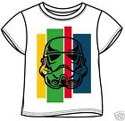 STAR WARS STORMTROOPER HEAD Boys Official 100% Cotton T Shirt Ages 3-11 years