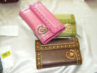 Lovcat French Wallet Peek A boo NEW TAG $125.00 Leather Patent accent