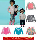 SEWING PATTERN! MAKE GIRL~DOLL MATCHING TOPS! FITS AMERICAN GIRL! PLAY CLOTHES!