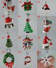 24pcs Multicolor Enamel Alloy Christmas Charms Dangle Beads Jewelry U1
