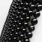 XX2561 Beautiful Black Agate 4-16mm Round Loose bead 15.5 inch Choose Size!