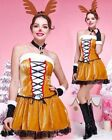 K111 Reindeer Santa Xmas Helper Christmas Elf Animal Fancy Dress Costume Outfit