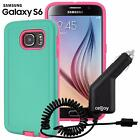 Shell Armor Hybrid Shockproof Thin Hard Case + Car Charger For Samsung Galaxy S6