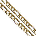 Gold Plated Figaro Chain 6mm New Solid Link Necklace
