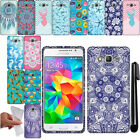 For Samsung Galaxy Grand Prime G530 TPU PATTERN SILICONE GEL Case Cover + Pen