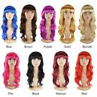 Womens Ladies Long Curly Wavy Fancy Dress Full Hair Clip Wig Costume Party