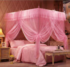 Luxury Lace Princess 4 Corner Post Bed Canopy Mosquito Netting Or Frame(Post)