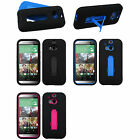 2-Layer V Stand Cover Protector Case HTC Sprint Verizon AT&T T-Mobile One 1 M8