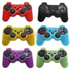 Silicone Gel Controller Skin for Sony Playstation PS3 Rubber Cover - Choose 2x