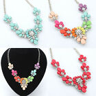 Fashion Women JewelryResin Necklace Chain Statement Bib Chunky Collar Pendant