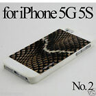 Animal Pattern Printed Design Cover Skin Case Glass SP for Apple iPhone 5 5G 5S