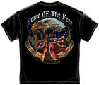 % Home of The Free Because of the Brave Patriotic Soldier Men's T-Shirt - Black