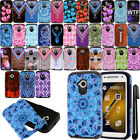 For Motorola Moto E LTE 2nd Gen 2015 Design Shockproof HYBRID Case Cover + Pen
