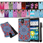For ZTE Grand X Max Z787 Max+ Z987 HYBRID Rugged HARD SOFT Case Cover + Pen