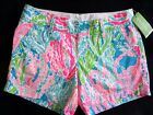 New Lilly Pulitzer CALLAHAN SHORT 10 12 Turquoise Lets Cha Cha SOLD OUT SIZE NWT