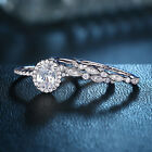 Engagement Set Wedding Rings For Women 925 Sterling Silver 3pcs White Cz Sz 5-10