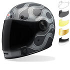 Bell Bullitt SE Full Face Motorcycle Helmet Tinted Bubble Visor Brown Tab
