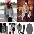 Fashion Women Winter Lapel Wool Cashmere Long Parka Coat Trench Jacket Outwear