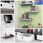 High Gloss Floating Wall Mount Shelves CD BOOK Display w/ 3 / 4 Inside drawers