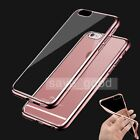 Shockproof Metal Bumper Ultra Thin Back Clear TPU Case Cover for iPhone 6 6s/6s+