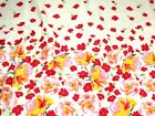 Floral Border Print Jardin Stretch Cotton Sateen Dress Fabric (Jardin4175-M)