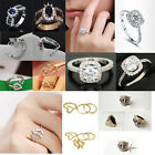 Fashion Jewelry Korean Women's Rings Crystal Rose Gold Plated Wedding Ring Party
