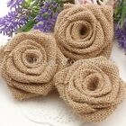 Handmade Burlap Roses Burlap Flower for Rustic Country Chic Wedding Decorations