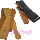 Adjustable Soft Faux Leather Strap Black Brown for Electric Acoustic Guitar Bass