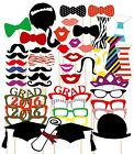 24/46PCS 2016 Graduation Grad Party Masks Photo Booth Props Mustache US Ship