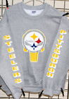 Pittsburgh Steelers PUNISHER- GRAY Sweatshirt - S, M, L, XL, 2XL, 3XL, 4XL, 5XL