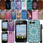 For LG Optimus Zone 2 Fuel VS415PP L34C TPU SILICONE SKIN Soft Case Cover + Pen