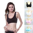 New Sexy Women Bra Fitness Stretch Yoga Sports Bra Seamless Padded Tank Top