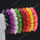 Fashion Punk Cute Synthetic Howlite Turquoise Taper Spike Bead Elastic Bracelet