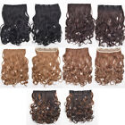 Lady Sexy Natural Long Curly Wavy Hair Extension Ombre Colors Clip In 5 Style
