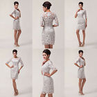 Hot Lace Mother of the Bride Formal Occasion Dress 1/2 Sleeve Wedding GUEST Gown