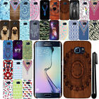 For Samsung Galaxy S6 Edge+ Plus G928 PATTERN HARD Back Case Phone Cover + Pen
