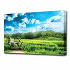 LARGE BRIDGE IN FIELD CANVAS PRINT 2150