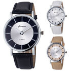 Geneva Fashion Chic Dial Womens Faux Leather Analog Quartz Wrist Watch Reloj HOT