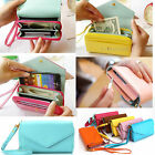 New Multifunctional Card Bag Colorful Purse Phone Case Envelope Clutch Wallet