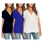 Sexy New Women's Ladies Loose Top Blouses Short Sleeve Casual Tops T-Shirt  TY