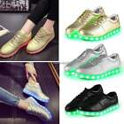 Unisex LED Light Lace Up Luminous Shoes Sportswear Casual Sneaker Trainers C1MY