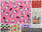 """Polar Fleece Printed Fabric HELLO KITTY 60"""" Wide Sold By the Yard"""
