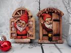 CHEEKY GNOME DOOR ~ WINDOW ~ HOME 0R GARDEN ~ FAIRY GNOME OR PIXIE GARDEN