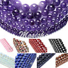 1 Strand 2-16mm Amethyst Quartz Agate Gems Round Loose Beads Jewelry DIY Gift