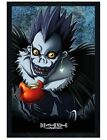 Death Note Black Wooden Framed Apple Maxi Poster 61x91.5cm