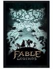 Fable Legends Black Wooden Framed White Lady Maxi Poster 61x91.5cm