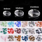 6mm/8mm/10mm Rugby Oval Faceted Crystal Glass Charm Loose Spacer Beads Wholesale