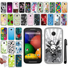 For Motorola Moto E TPU SILICONE Rubber SKIN Soft Protective Case Cover + Pen